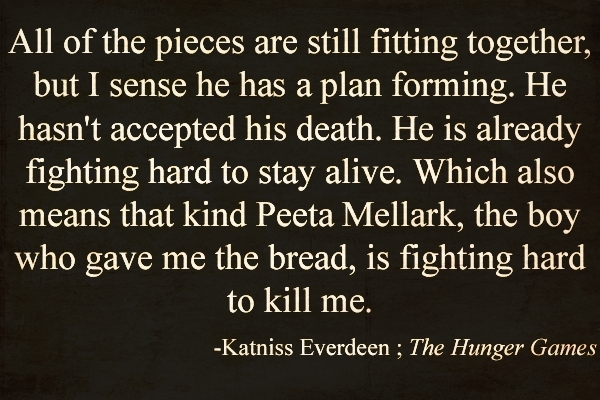 hunger games book 1 quotes quotesgram