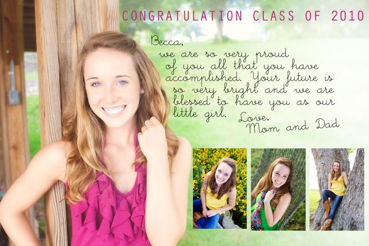 yearbook ads from parents examples - Google Search ... |Senior Dedication Ideas