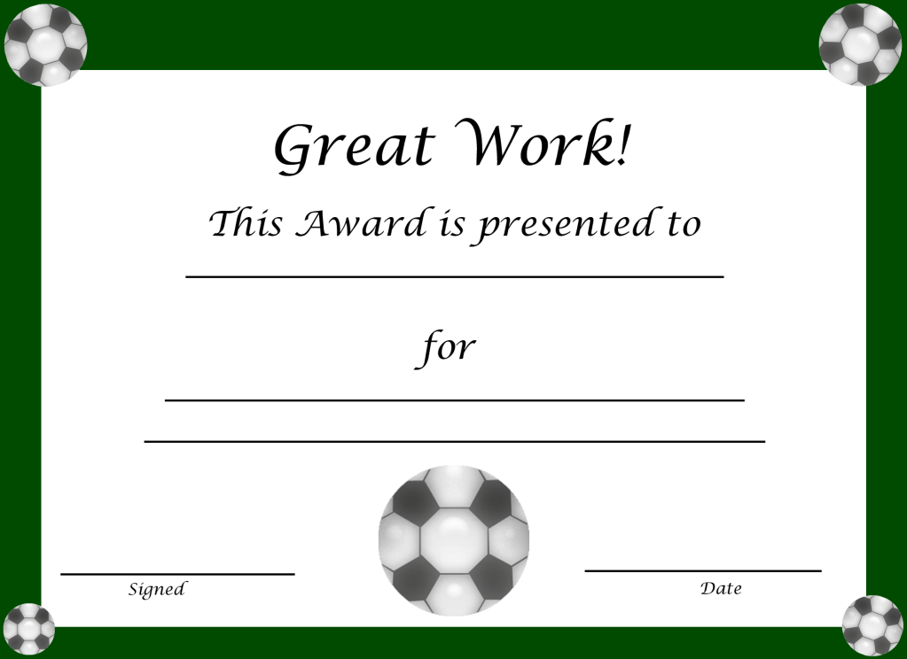 soccer award certificate templates free - most improved baseball player quotes quotesgram