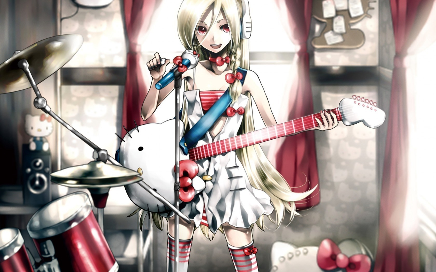 Hair blond drummer quotes quotesgram - Anime wallpaper music ...