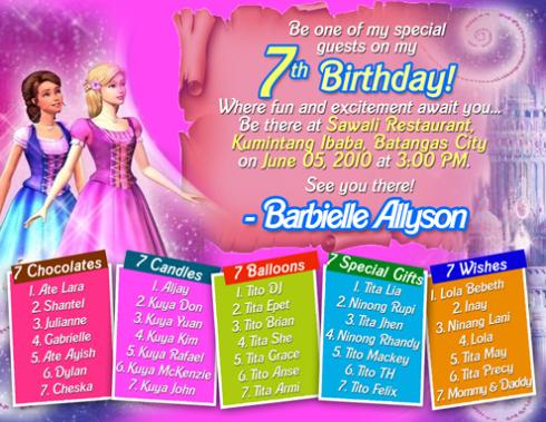 7th birthday invitation quotes quotesgram