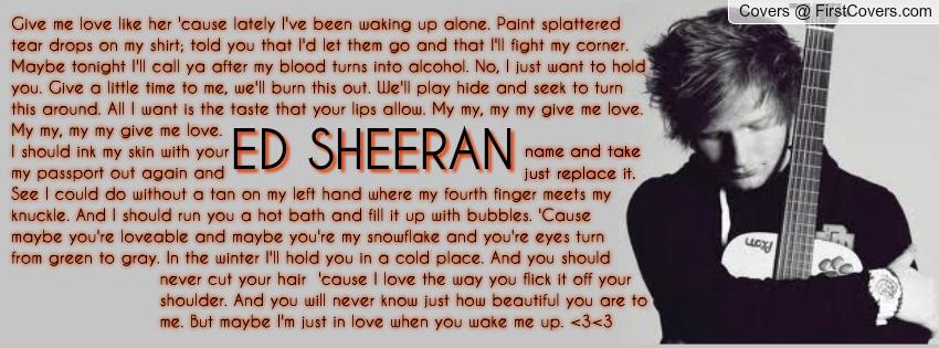 ed sheeran wake me up quotes quotesgram