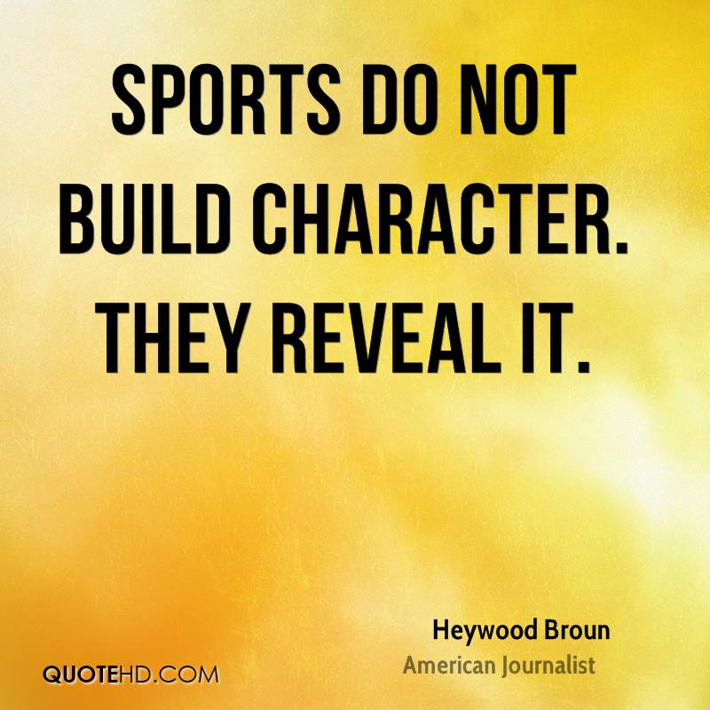 Essay sports help develop good character