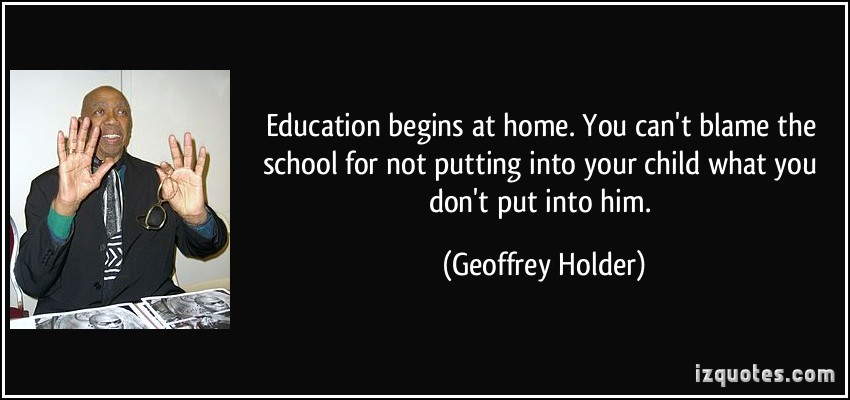 Education begins at home
