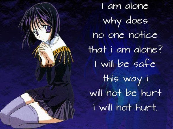 awesome anime sad quotes quotesgram