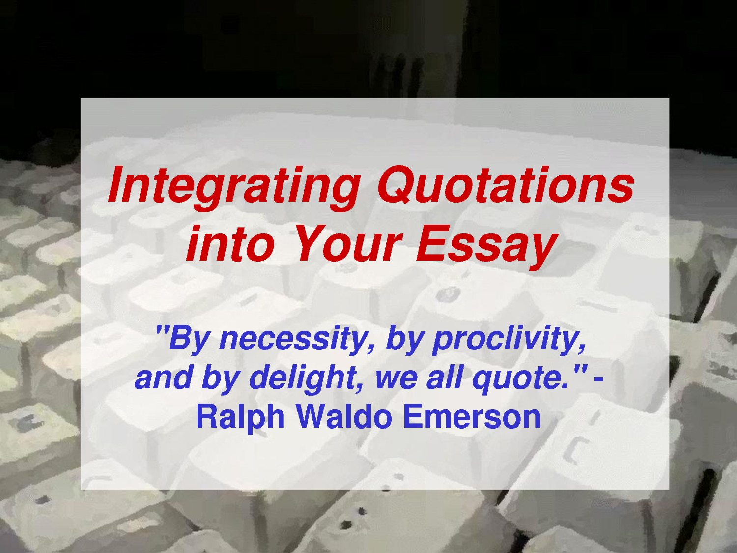 integrating a quote in an essay