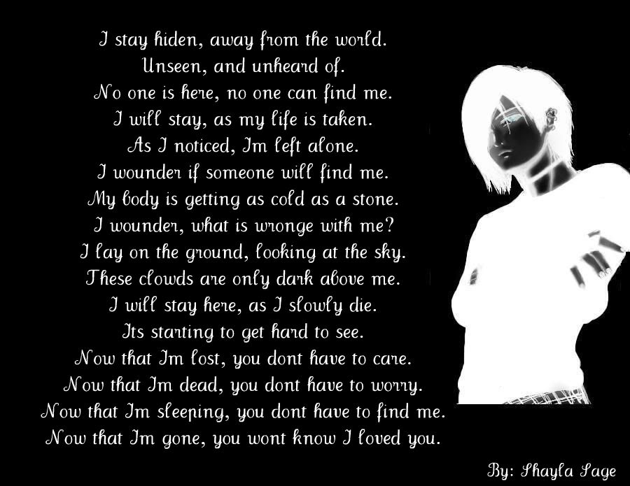 Emo Poems: Sad Emo Quotes And Poems. QuotesGram