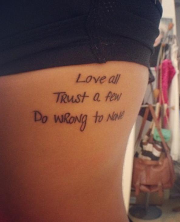 Tattoo Quotes And Poems Quotesgram: Trust Quotes Tattoos. QuotesGram