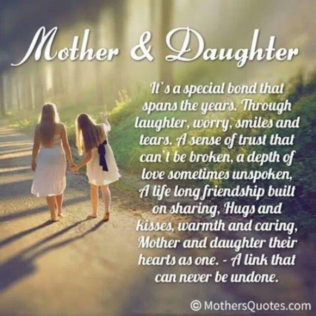 Special Mother Daughter Bond Quotes. QuotesGram