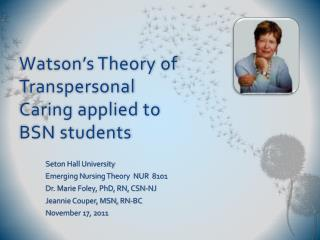 Uop watsons theory of caring