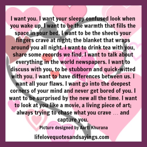 I Want You Sayings: All I Want Is You Quotes. QuotesGram
