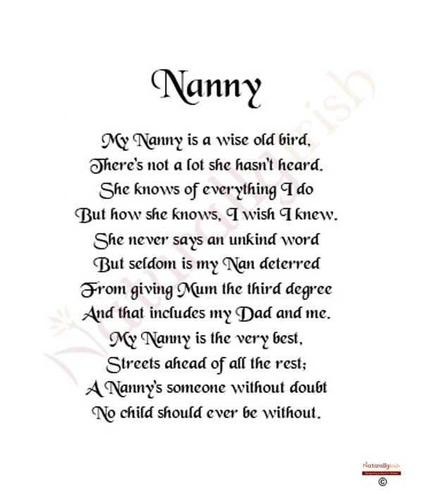 nanny grandma quotes and poems quotesgram