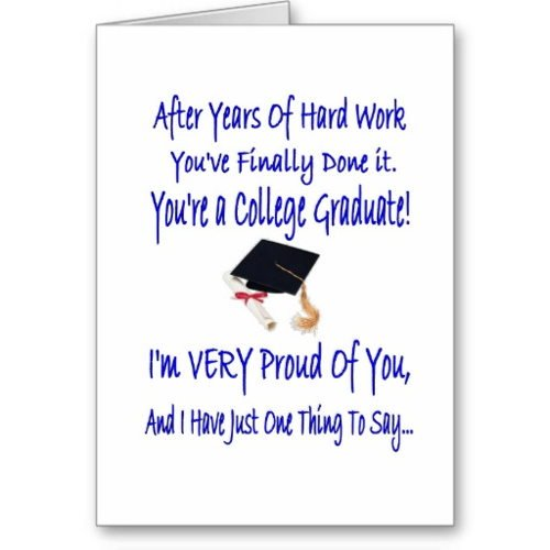 College Graduation Cards Sayings