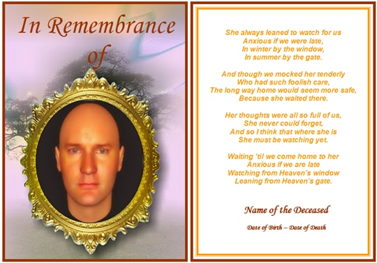 Funeral Memorial Card Template Free from cdn.quotesgram.com