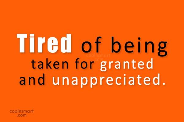 i feel unappreciated in relationship