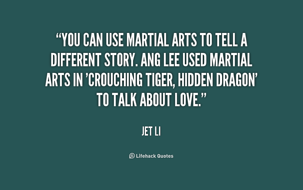 Martial arts quotes about life