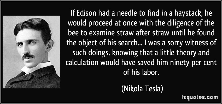 Quotes About Edison Tesla Quotesgram