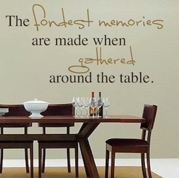 Dinner at eight quotes quotesgram for Dining room quote decals