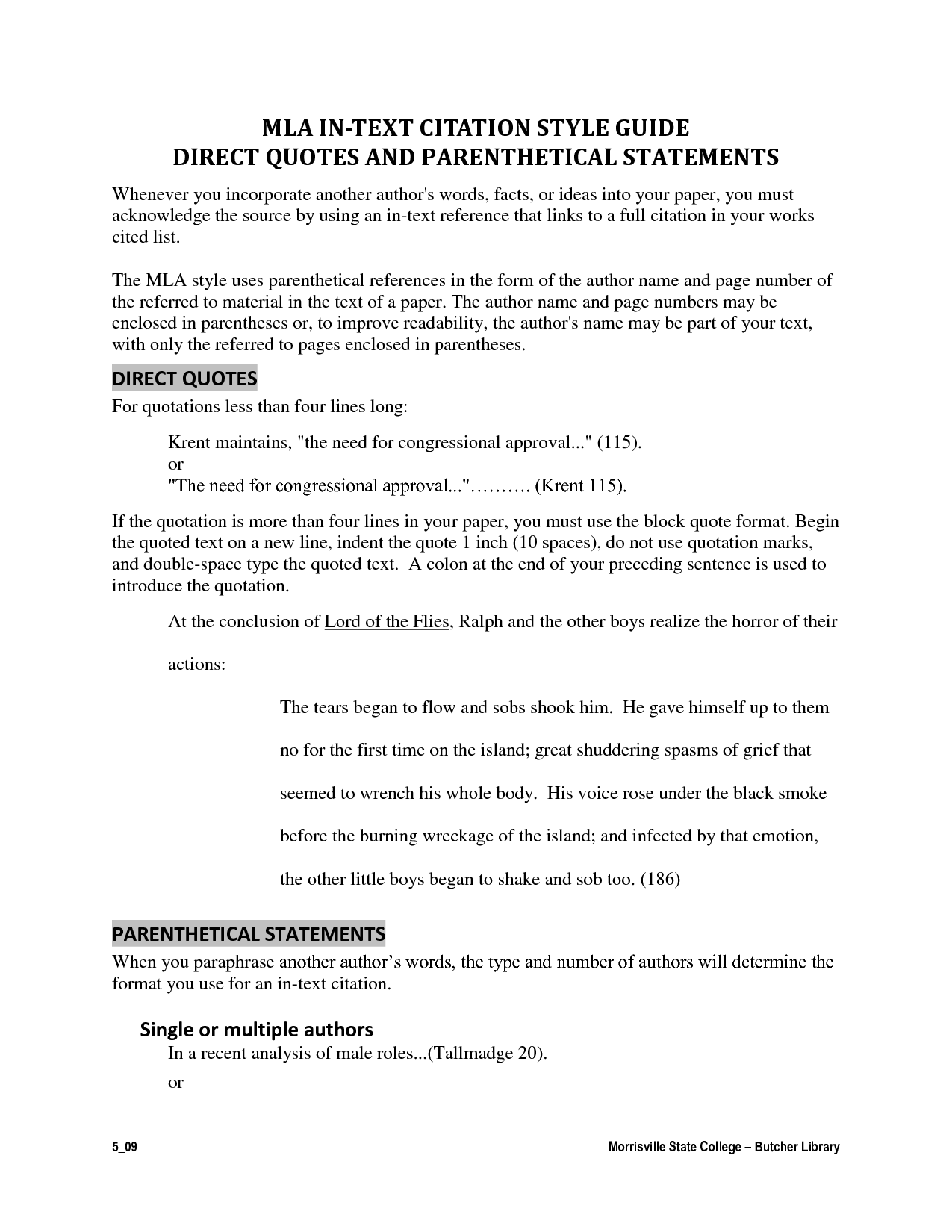Mla formatting for quotes in an essay