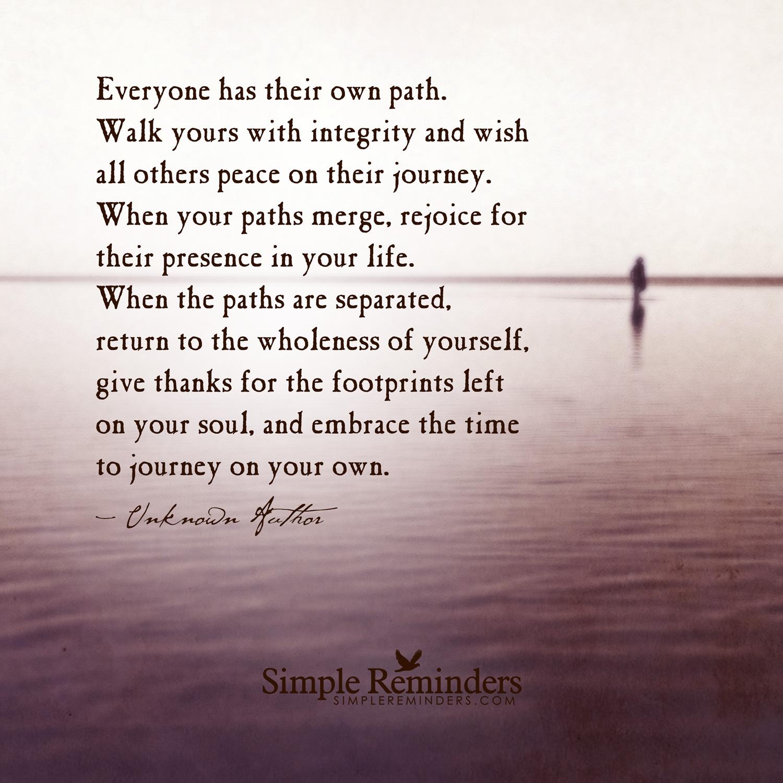 Life Path Quote: Path Quotes Journey. QuotesGram