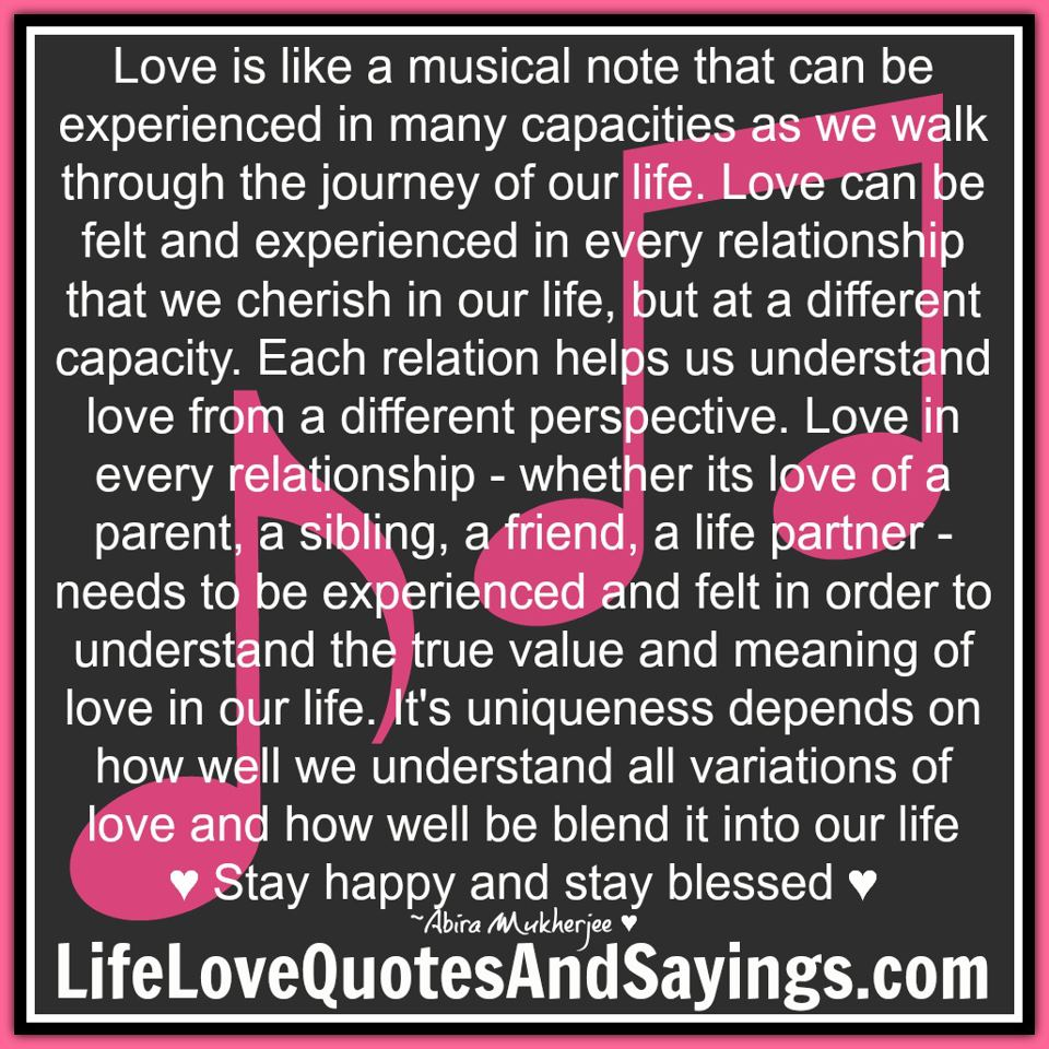 Love Is Quotes: Love Is Like Music Quotes. QuotesGram