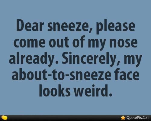 Sneezing Quotes. QuotesGram
