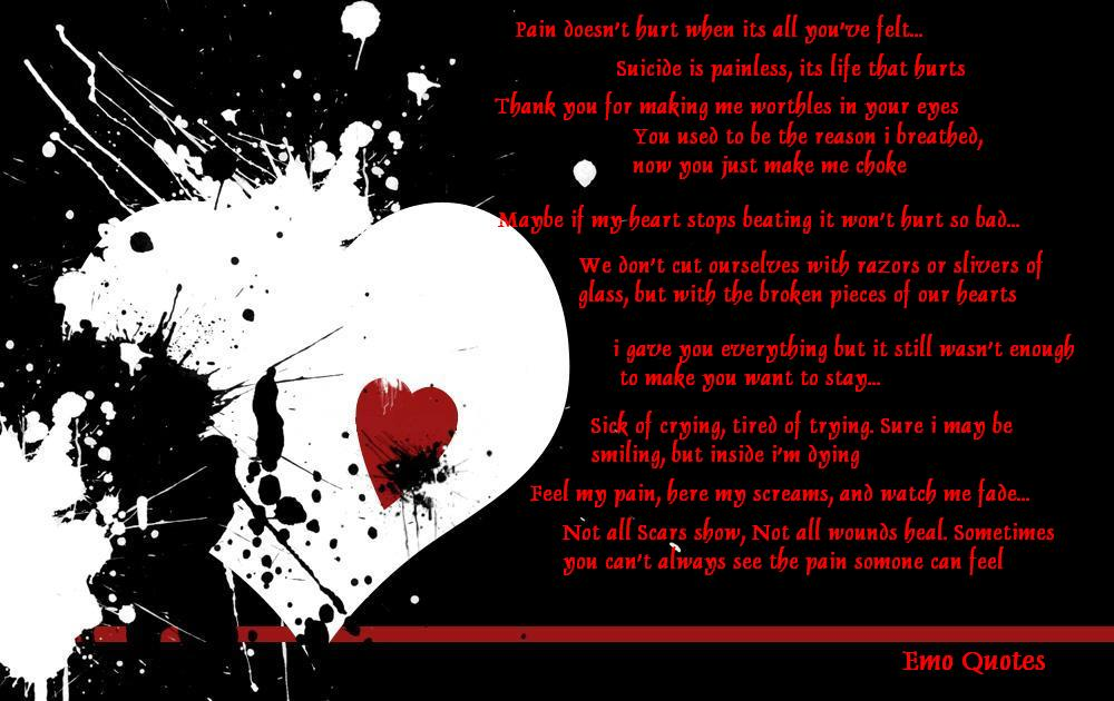 Emo Quotes About Suicide: Sad Emo Quotes About Love. QuotesGram