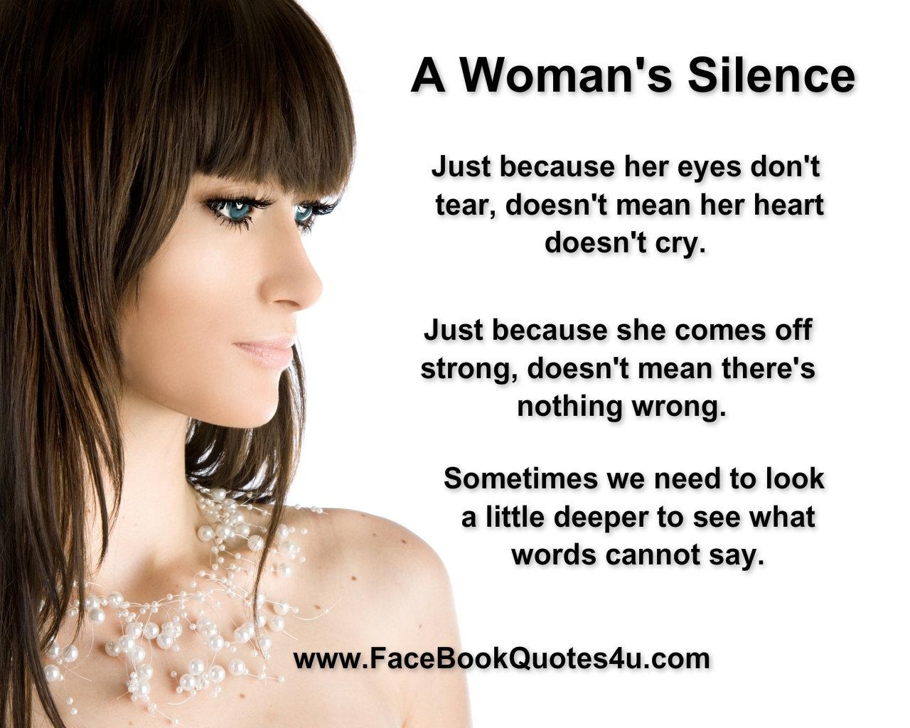 Silent Women Quotes. QuotesGram