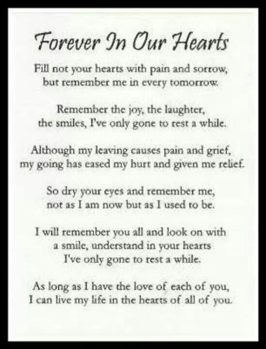 Forever In Our Hearts Quotes. QuotesGram