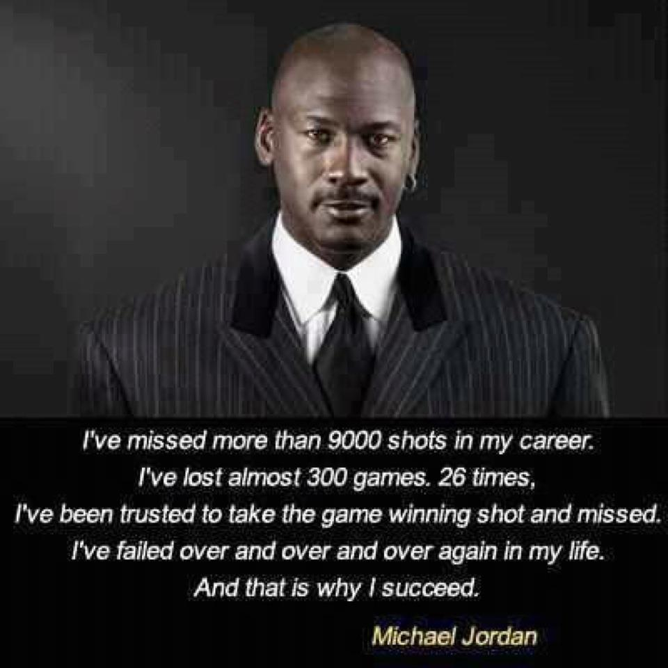 Inspirational Quotes About Failure: Michael Jordan Famous Failure Quotes. QuotesGram