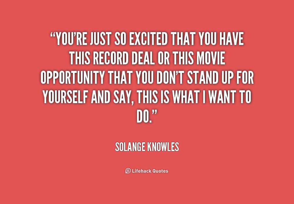 Excited Quotes. QuotesGram