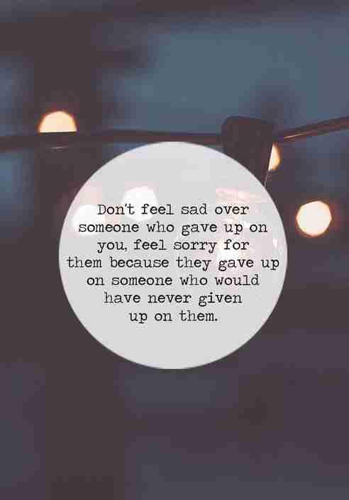 Dont Feel Sad Quotes Quotesgram