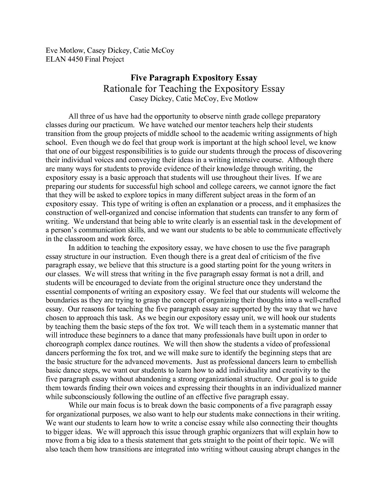 5 paragraph essay on the bill of rights