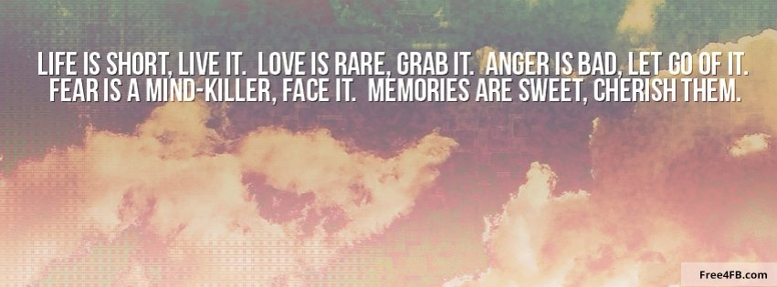 life quote cover photos - photo #10