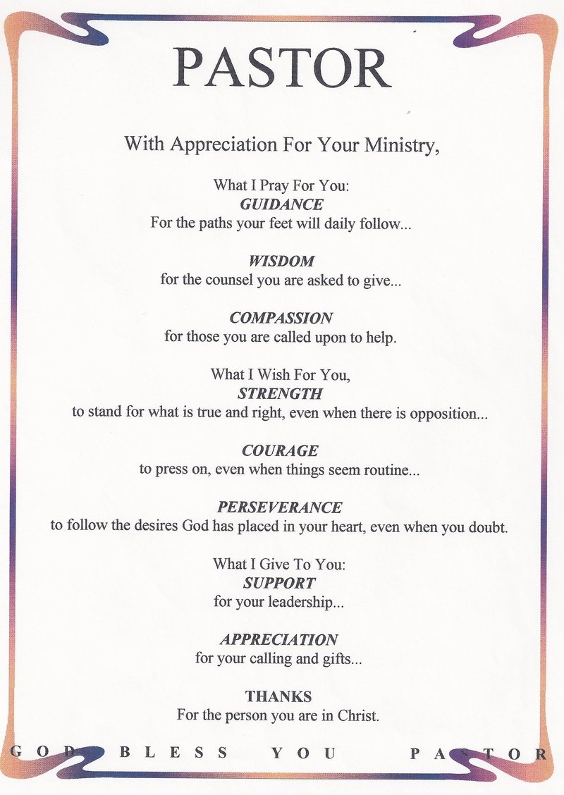 Pastor Appreciation Poems Or Quotes. QuotesGram