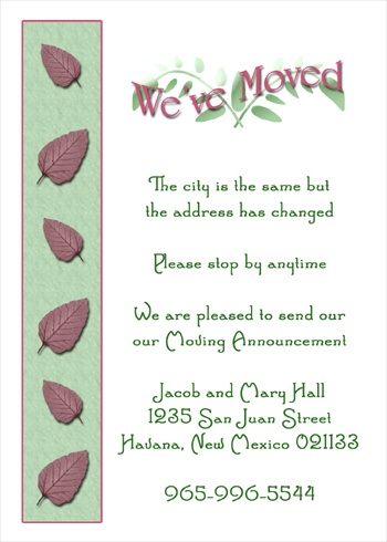 1533669819 7045WM Moving Announcements Leaves housewarming invitation quotes quotesgram,Housewarming Invitation Message In India