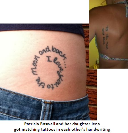 Mother to daughter quotes tattoos on back quotesgram for Matching tattoos for mother and daughter quotes