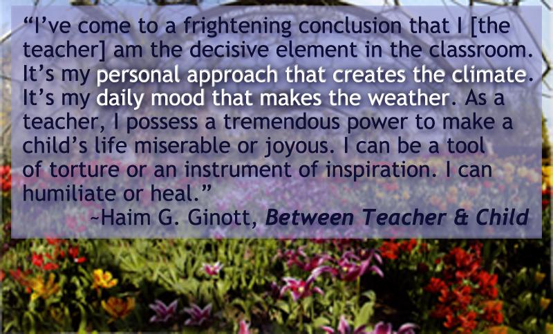 Haim Ginott Quotes In Education. QuotesGram