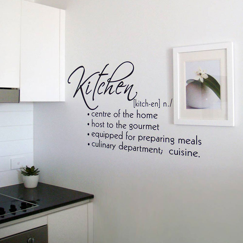 Kitchen vinyl lettering quotes quotesgram for Kitchen quotation
