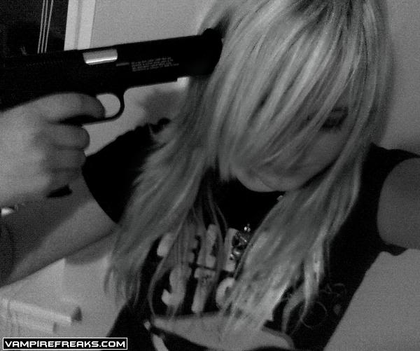 Emo Quotes About Girl: Emo Girl With Gun Quotes. QuotesGram