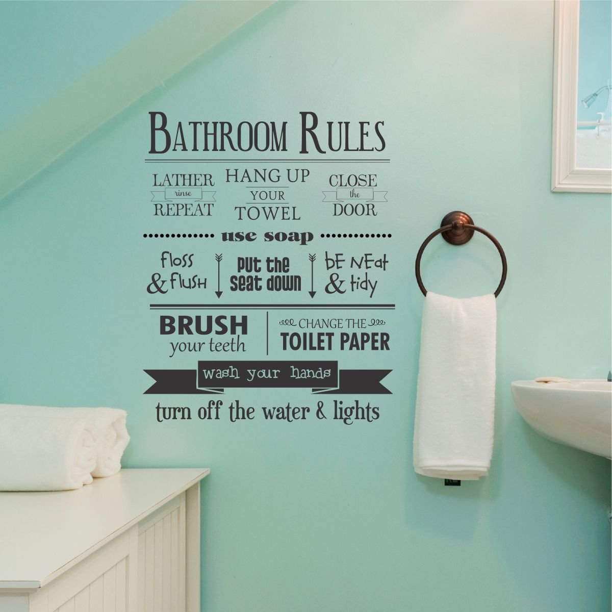 Family Wall Decal Bathroom Wall Decal Wall Decals Funny Wall Decal wall decor