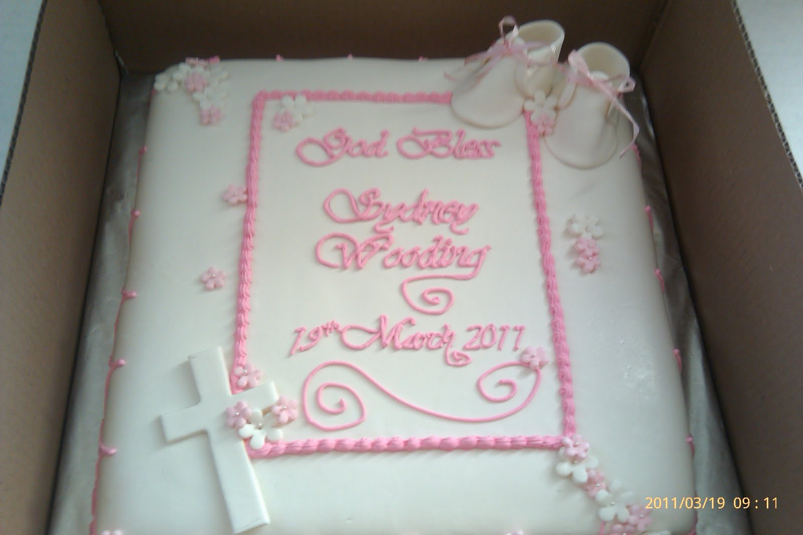 Baptism Cake Wording Ideas