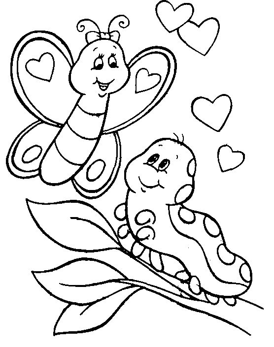 caterpilla coloring pages | Cute Caterpillar To Butterfly Quotes. QuotesGram