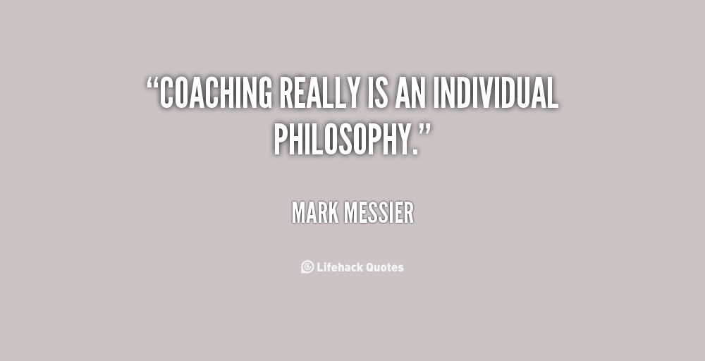 coaching philosophy Developing a successful coaching philosophy this is an excerpt from winning football by bill ramseyer a program operates under the philosophy developed and preached by the coaching staff this philosophy includes basic principles that guide the actions of the coaches.