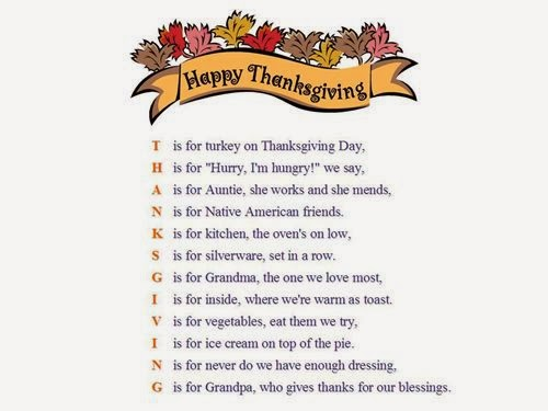 funny thanksgiving poem for adults