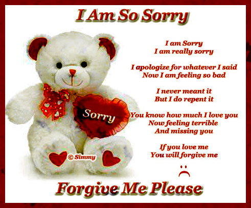 Love poems im sorry