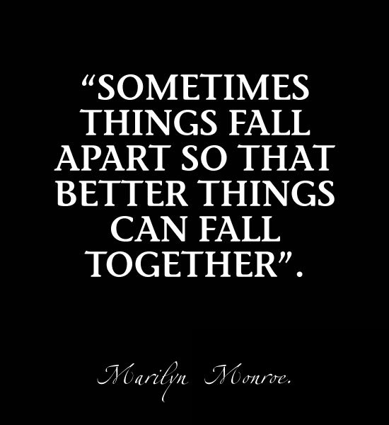 Marilyn Monroe Quotes Better Things Can Fall Together: Quotes Things That Go Together. QuotesGram