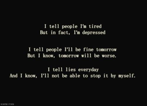 depression cutting quotes quotesgram