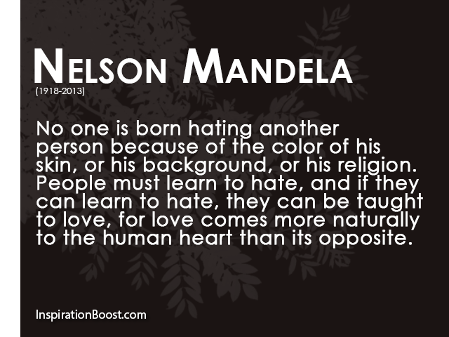 Quotes About Not Liking People Quotesgram: Nelson Mandela Quotes About Hate. QuotesGram