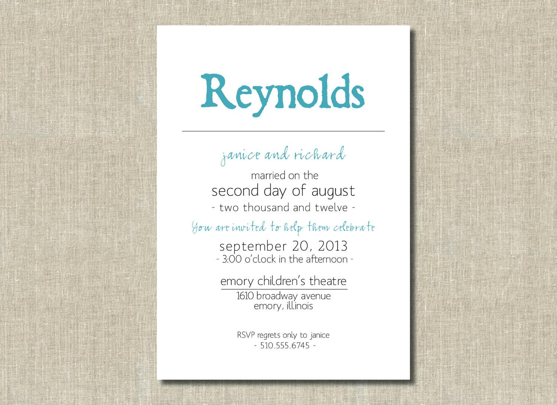Surprise Vow Renewal Invitations Wedding Invitation Ideas